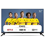 CHiQ Televisor Smart TV LED 32' HD, WiFi, Bluetooth (Solo Auriculares y Altavoces),...